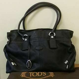 Tods 深藍牛皮  真品