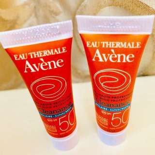 Sample -  AVENE SPF50 clearance Solaire - 2 Sunscreen 5ml (F024)