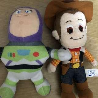 Toys story 一set巴斯光年胡迪$30兩隻全新