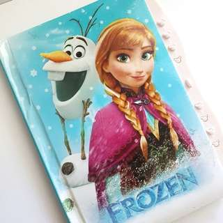 Frozen -  Anna and Olaf ruled/lined notebook