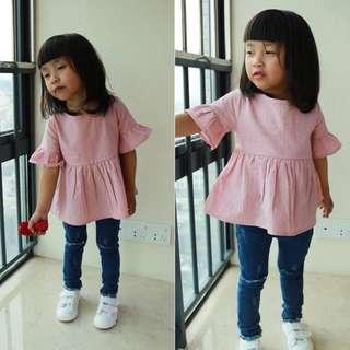 CNY Ruffle Top Kid Girl Apparel