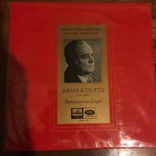 Rare OOP Classical LP Vinyl Record Beniamino Gigli Vol 2