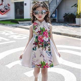 CNY Floral Dress Girl Apparel
