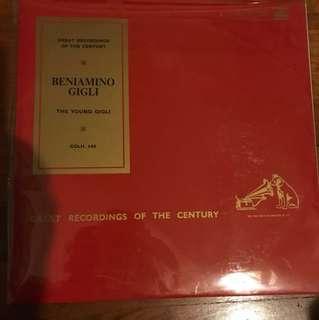 Rare OOP Classical LP Vinyl Record Beniamino Gigli