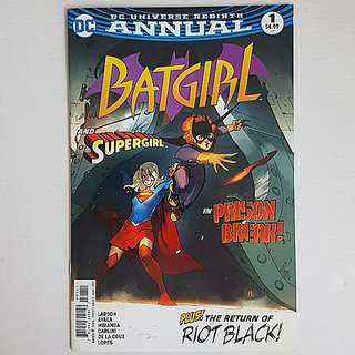 DC Comics Batgirl Rebirth Annual 1 Near Mint Condition Supergirl Appearance