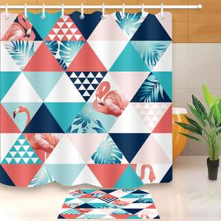 180 cm Bath Shower Curtain/Tirai Kamar mandi Waterproof Flamingo