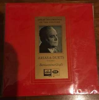 Rare OOP Classical LP Vinyl Record Beniamino Gigli Vol.2