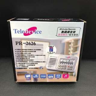 全新電話錄音機 recorder pr-2626