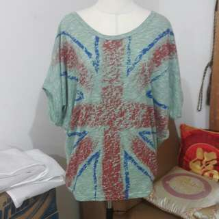 *free ongkir* Guess Oversized Tosca England Blouse