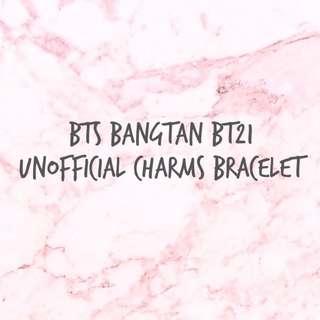 방탄소년단 BTS Bangtan BT21 Unofficial Charms Bracelet