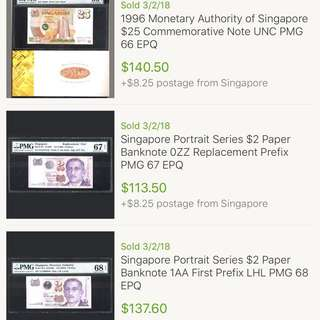 Posting of eBay auction results at a Carousell seller's request