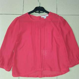 Baju blouse warna merah
