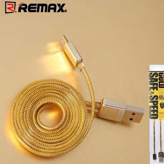 MURAH!! Lightning gold braided cable REMAX