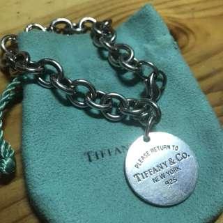 Tiffany & Co classic round tag bracelet