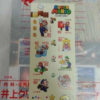 日本直送 限量 Mario 郵票
