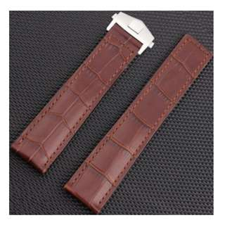Tali Jam Tangan Kulit Coklat Brown Leather Watch Band Strap TAG HEUER