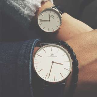 Daniel Wellington Couple Watches - Valentines Day Special (any model, any size)