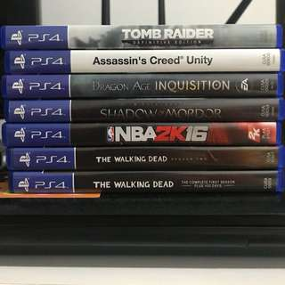 PreLoved PS4 Games for Sale