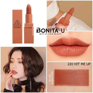 3CE Matte Lipstick Hit me up shade 220