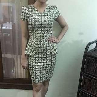 Dress Batik warna Hijau