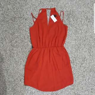 Sale BNWT BANANA REPUBLIC Red Strappy Dress   #easter20