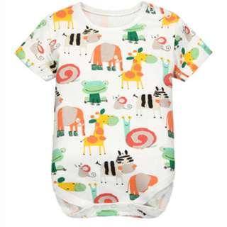 G1013 - Baby Toddler Animal Prints Short Sleeve Romper