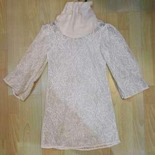 Prelove lace long shirt/ short dress