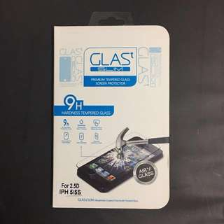iPhone 5/5S - 9H Tempered Glass Screen Protector