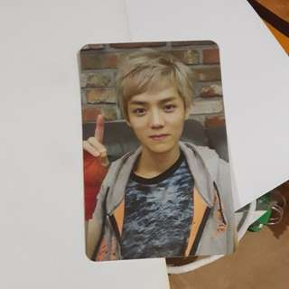 Photocard EXO Wolf  Luhan Official