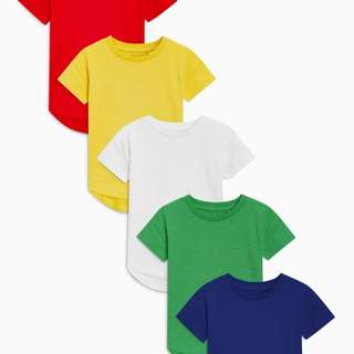 Primary Bright Short Sleeve T-Shirt Five Pack