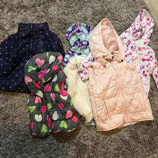 H&M, pumpkin patch jackets and wind breakers for 2-4 yr old