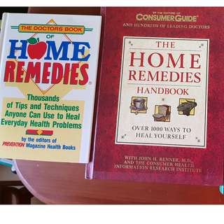 3 home remedy books (home remedies, home remedies handbook and medical cures and treatment)