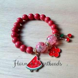 Swarouski pearl red