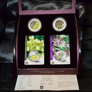 2007 Heritage orchid of Singapore coin set.