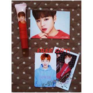 WANNA ONE INNISFREE MY LIPBALM ( JINYOUNG ) + free gift ^^