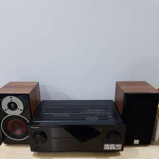 Pioneer VSX 522 and Dali Zensor bookshelf speakers