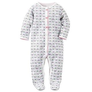CARTER'S Baby Girl Butterfly Sleepsuit Carter's Bodysuit Carter's Pajama 3M