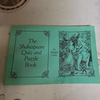 The Shakespeare Quiz and Puzzle Book