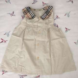 Burberry inspired baby dress 12mos