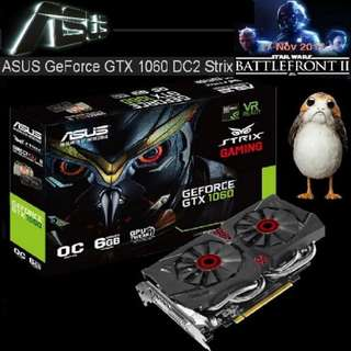 ASUS GTX 1060 DC2 OC edition 6GB GDDR5 Strix GeForce®.