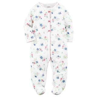 CARTER'S Baby Girl Floral Sleepsuit Carter's Bodysuit Carter's Pajama 3M