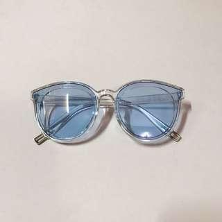 🆕 Light blue retro sunglasses