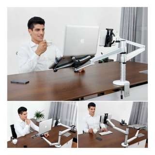 (OA-9X) Laptop/Notebook and Tablet/iPad Desktop Dual Arm Mount Stand  Message 87209646