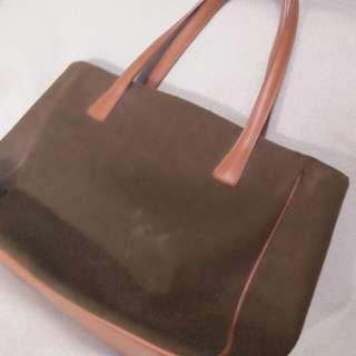 Green and Brown Handbag
