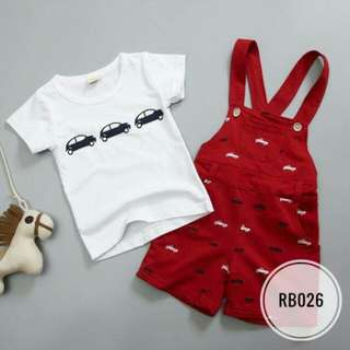 Overall Set Red