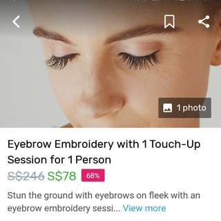 Fave Voucher Eyebrow Embriodery