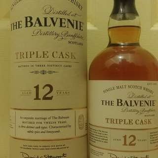 Balvenie 百富 Triple Cask 12 Years Whisky 1L