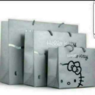 In Stock Hello Kitty Design Paper Bag Carrier For Gift Party In 2 Sizes