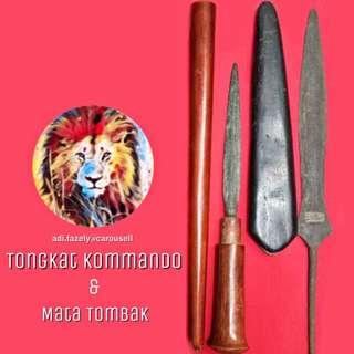 Tongkat Kommando & Mata Bilah