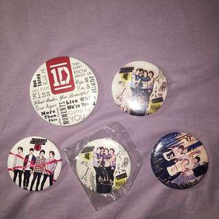 5SOS and 1D badges